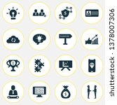team icons set with chief ... | Shutterstock .eps vector #1378007306
