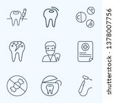 tooth icons line style set with ... | Shutterstock .eps vector #1378007756