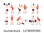 fitness trainer. male personal... | Shutterstock .eps vector #1378009580