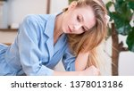 soft studio portrait of a...   Shutterstock . vector #1378013186
