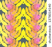 vector color floral seamless... | Shutterstock .eps vector #1378014140
