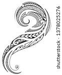 maori ethnic style tribal... | Shutterstock .eps vector #1378025276