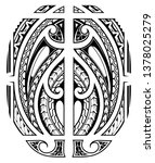 polynesian sleeve and shoulder... | Shutterstock .eps vector #1378025279