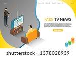 fake live breaking tv news...   Shutterstock . vector #1378028939
