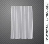 curtain  hanging window... | Shutterstock .eps vector #1378032563