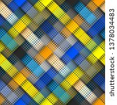 geometric abstract pattern in... | Shutterstock .eps vector #1378034483