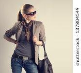 shopping woman. attractive... | Shutterstock . vector #137804549