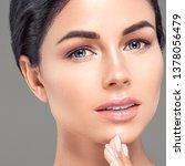 natural makeup woman healthy...   Shutterstock . vector #1378056479
