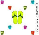 vector set with cute and... | Shutterstock .eps vector #1378057919