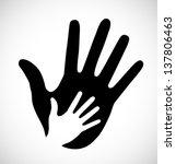 caring hand  vector illustration | Shutterstock .eps vector #137806463
