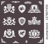 heraldic elements vector set | Shutterstock .eps vector #137807450