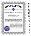 grey formal invitation. money... | Shutterstock .eps vector #1378092323