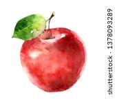 Beautiful Juicy Ripe Red Apple...