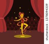 the famous ballerina glows... | Shutterstock .eps vector #1378094339