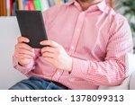 reading a novel bestseller on... | Shutterstock . vector #1378099313