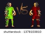barcelona vs liverpool  semi...   Shutterstock .eps vector #1378103810