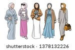 muslim girls. harem. sultan s... | Shutterstock .eps vector #1378132226