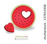 watermelon vector illustration | Shutterstock .eps vector #137814308