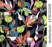 floral seamless pattern.... | Shutterstock .eps vector #1378152209