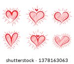 different graphic hearts... | Shutterstock .eps vector #1378163063