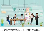 concept of coworking center and ... | Shutterstock .eps vector #1378169360