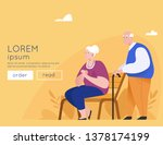Happy Elderly Couple On A Park...