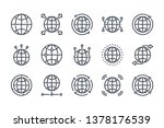 world map related line icon set.... | Shutterstock .eps vector #1378176539