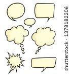 cartoon style illustrated set... | Shutterstock .eps vector #1378182206