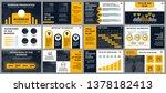 business presentation slides... | Shutterstock .eps vector #1378182413