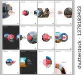 minimal brochure templates with ... | Shutterstock .eps vector #1378183433