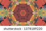 geometric design  mosaic of a... | Shutterstock .eps vector #1378189220