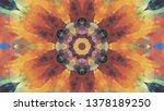 geometric design  mosaic of a... | Shutterstock .eps vector #1378189250