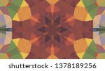 geometric design  mosaic of a... | Shutterstock .eps vector #1378189256