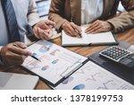 business team colleague working ... | Shutterstock . vector #1378199753