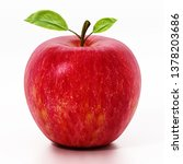 Fresh Red Apple Isolated On...
