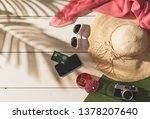 summer beach vacations and... | Shutterstock . vector #1378207640