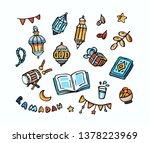 ramadan kareem hand drawn... | Shutterstock .eps vector #1378223969