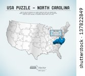 usa map puzzle   one state one... | Shutterstock .eps vector #137822849