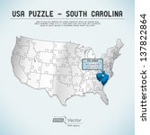 usa map puzzle   one state one... | Shutterstock .eps vector #137822864