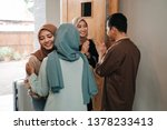 muslim friend and family... | Shutterstock . vector #1378233413