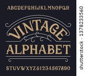 vintage alphabet font. ornate... | Shutterstock .eps vector #1378233560