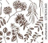 flowering trees background....   Shutterstock .eps vector #1378241360