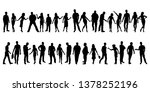 collection of people... | Shutterstock .eps vector #1378252196
