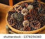 A Basket Of Pine Cones