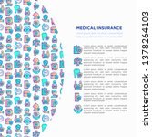 medical insurance concept with... | Shutterstock .eps vector #1378264103