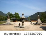 Silsangsa Temple in Namwon-si, South Korea. Various Buddhist cultural assets.