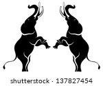 vector image of elephants... | Shutterstock .eps vector #137827454