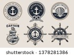set of nautical badges with... | Shutterstock .eps vector #1378281386
