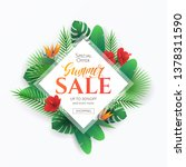 summer sale banner with frame ... | Shutterstock .eps vector #1378311590