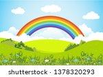 summer spring green valley... | Shutterstock .eps vector #1378320293